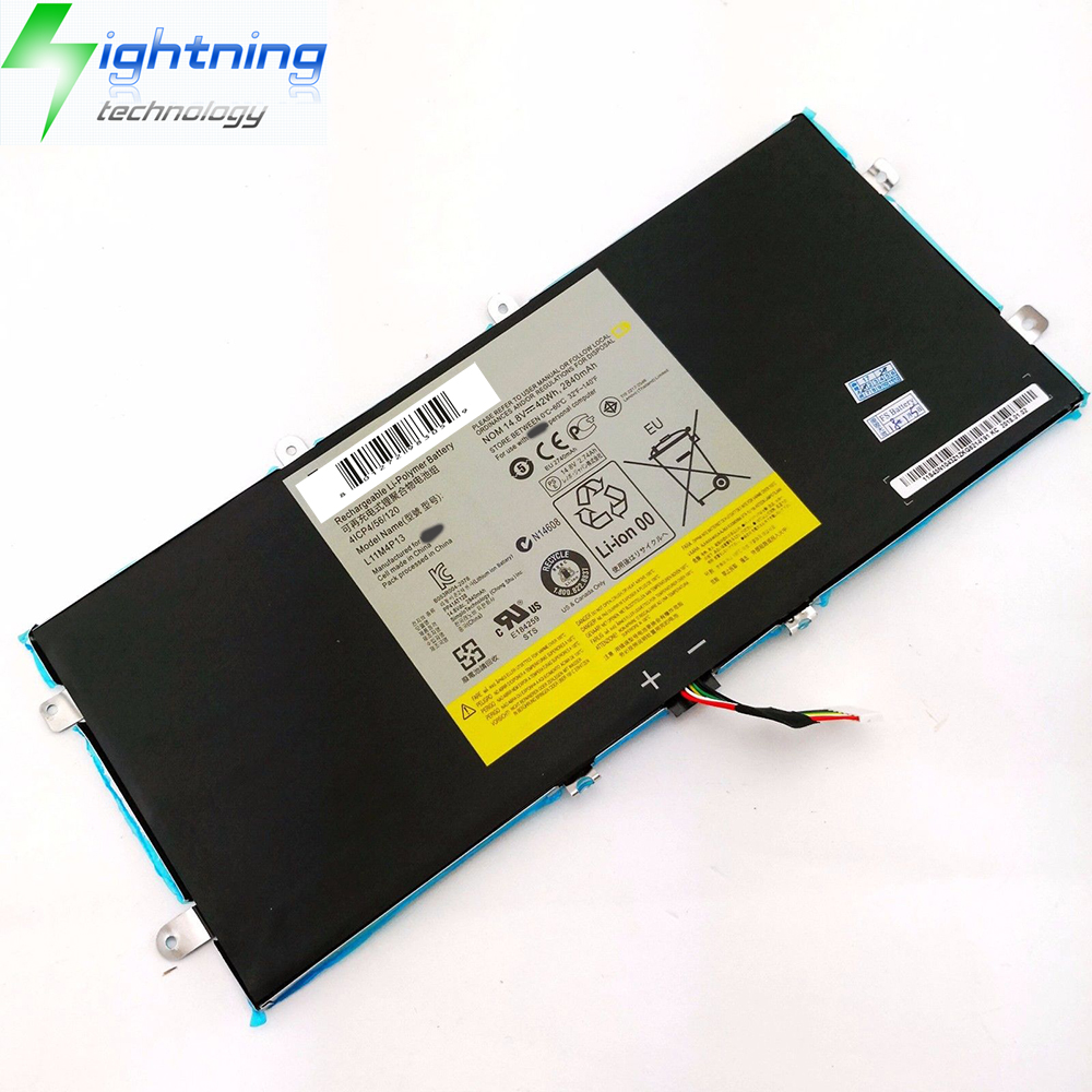 NEW Genuine Battery Laptop Original 42Wh L11M4P13 Battery For Lenovo IdeaPad Yoga 11 11S Ultrabook 4