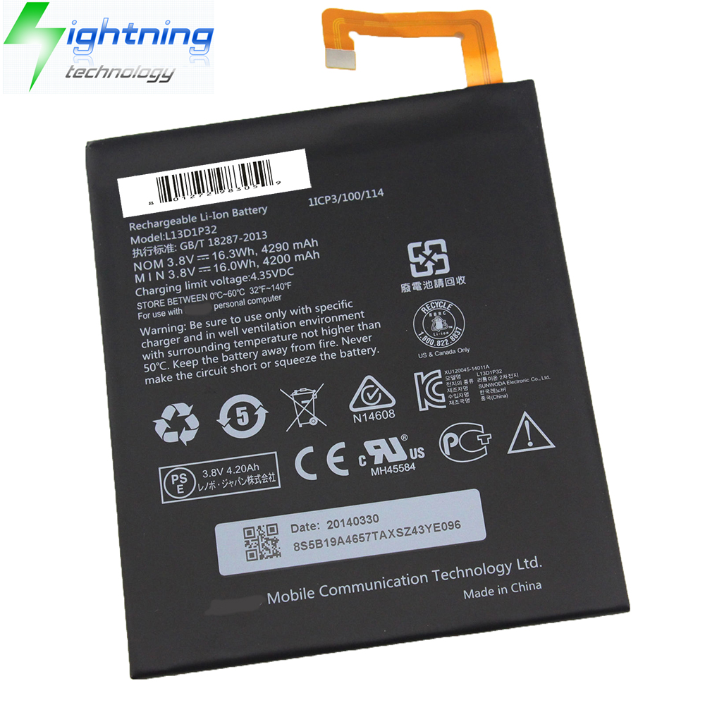 NEW OEM Genuine 3.8V 4290mAH For Lenovo Original Battery Laptop L13D1P32 Ideapad A8-50 A5500 Noteboo