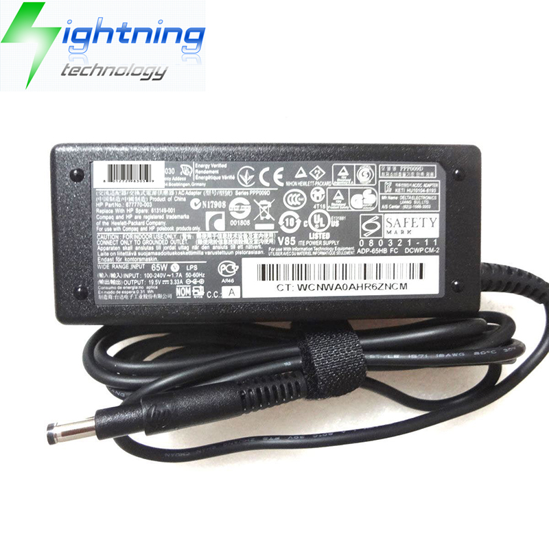 NEW Original Genuine Laptop Charger For HP Adapter SLEEKBOOK 19.5V 3.33A 65W 4.8*1.7mm Notebook AC A